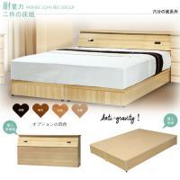 【Maslow-房東精選】雙人床頭箱+耐重6分床底(4色)