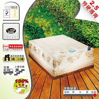 USLEEP 湛藍晶鑽旗艦特硬2.5連結式床墊-雙人5尺