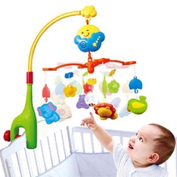 快樂森林嬰幼兒旋轉音樂床鈴床掛轉鈴音樂搖鈴