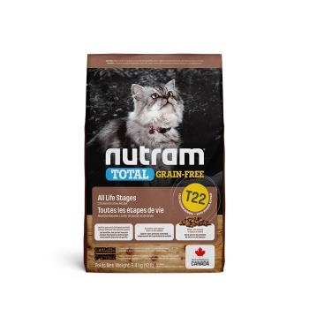 Nutram紐頓 T22無穀貓 貓飼料 火雞配方 6.8公斤*1包