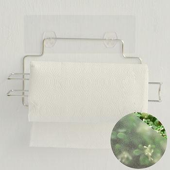 《舒適屋》魔力霧面無痕貼系列-不鏽鋼捲筒紙巾架