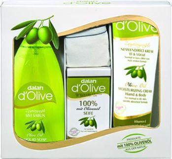 土耳其【DALAN】橄欖經典沐浴組(身體乳250ml x 1、液體肥皂400ml x 1、100%橄欖香皂150g x 1、蠶絲沐浴手套 x 1)