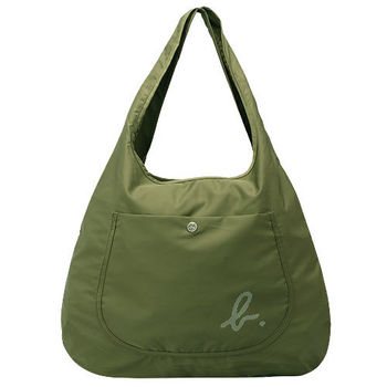 Agnes b. Voyage系列點狀小b LOGO尼龍萬用袋(軍綠)
