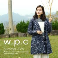 w.p.c.星星釦子款 時尚雨衣/風衣(R1032)_深藍色