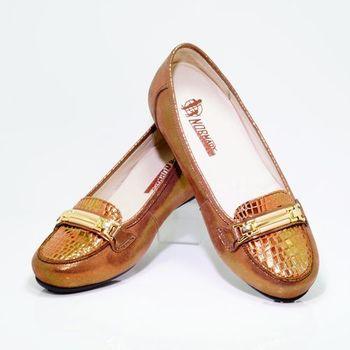 諾曼地MIT亮澤鱷魚紋增高鞋