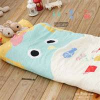 【R.Q.POLO】ZOO系列-科美爾 絲棉柔/兒童冬夏兩用鋪棉書包型睡袋(4.5X5尺)
