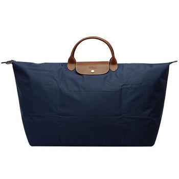 LONGCHAMP 摺疊超大型旅行包/購物袋(深藍)