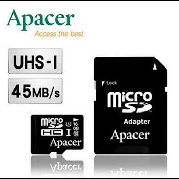 Apacer 宇瞻 16GB MicroSDHC UHS-I 記憶卡