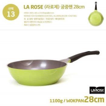 韓國Chef Topf 玫瑰鍋陶瓷不沾深炒鍋28CM
