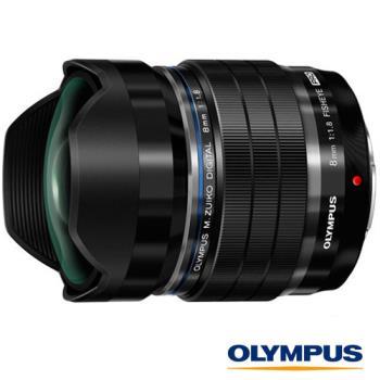 回函送禮券2000元~ Olympus M.ZUIKO 8mm F1.8 魚眼鏡頭(元佑公司貨)