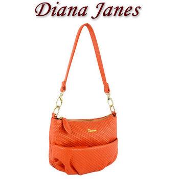 【Diana Janes 黛安娜】牛皮個性皮紋小女包