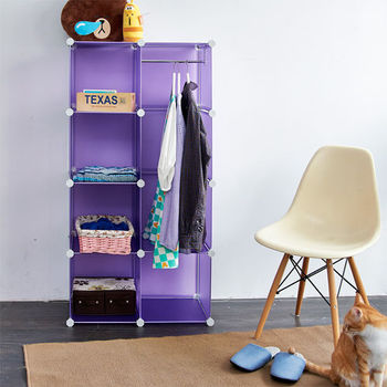 IKLOO宜酷屋 魔術空間8格衣櫥組合櫃(附門4片)