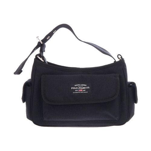 Ralph Lauren POLO 休閒實用側背包(黑)