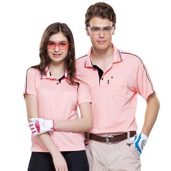 【SPAR】吸濕排汗女版短袖POLO衫(SP73557)蜜粉色