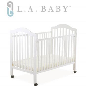 【美國 L.A. Baby】米爾頓嬰兒大床白色