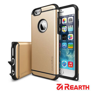 Rearth Apple iPhone 6 Plus (5.5吋) Max 保護殼(香檳金) (贈送螢幕保護貼)