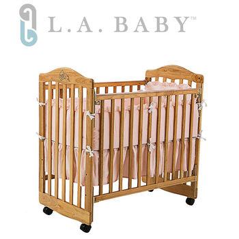美國 L.A. Baby 蒙特維爾美夢熊嬰兒小床組合(床+床墊+寢具組)