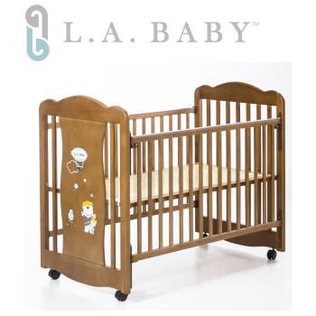 【美國 L.A. Baby】奧蘭多嬰兒搖擺大床/童床-淺咖啡色