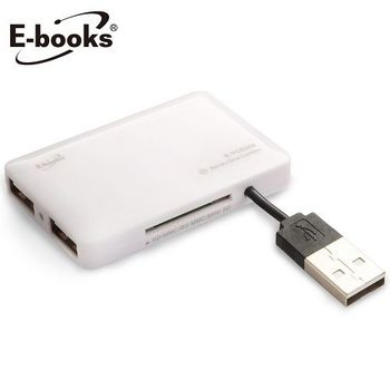 E-books T18 多合一讀卡機 +三孔USB集線器