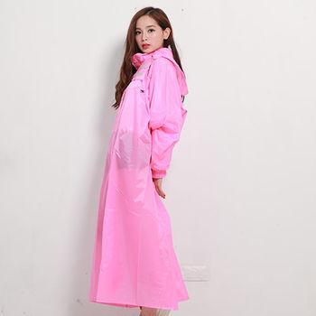 奧德蒙戶外機能特仕OutPerform-桑德史東繽紛全方位連身式風雨衣(T4)-紅櫻粉