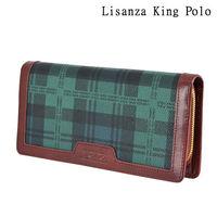 【Lisanza King Polo】格紋多層事務長夾-綠格