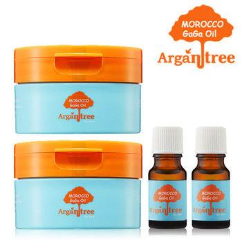 【Morocco GaGa Oil】摩洛哥修護滋養護髮膜100mlX2+秀髮油10mlX2