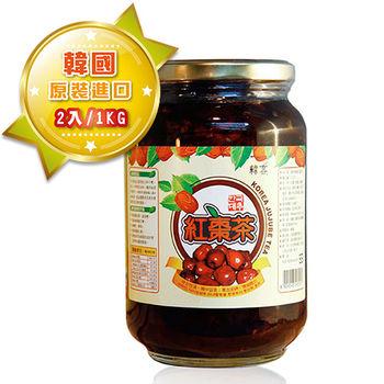 【韓客蜂蜜紅棗茶】精裝禮盒-2入組(1kg/入)
