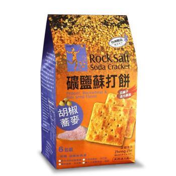 正哲 礦鹽蘇打餅(胡椒蕎麥)x4袋  (380g±4.5%/袋 每袋6小包入)