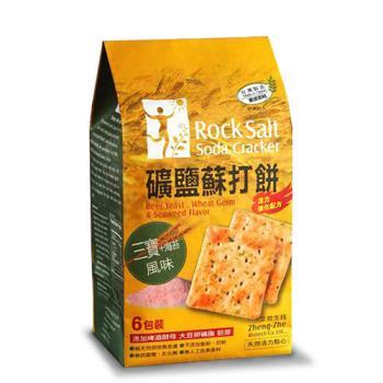 正哲 礦鹽蘇打餅(三寶+海苔)x4袋  (365g±4.5%/袋 每袋6小包入)