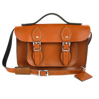 【The Leather Satchel Co.】11吋 英國手工牛皮可手提劍橋包 (倫敦棕)