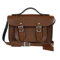 【The Leather Satchel Co.】11吋 英國手工牛皮可手提劍橋包 (栗木棕)