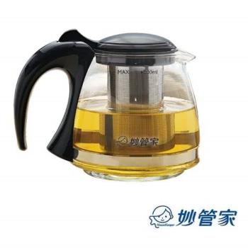 【【好市吉居家生活】妙管家 HKP-082B 泡茶壺 800ml 沖茶壺 玻璃茶壺 沖茶器 花茶壺