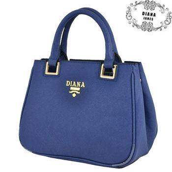 【Diana Janes 黛安娜】牛皮十字紋兩用手提女包