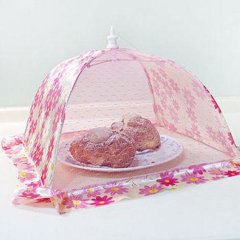 歐式水果罩菜罩桌罩正方形-12吋(2入組)