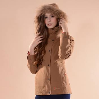 【JORDON 橋登】都會女款GORE-TEX+精緻鵝絨二合一外套 #1098