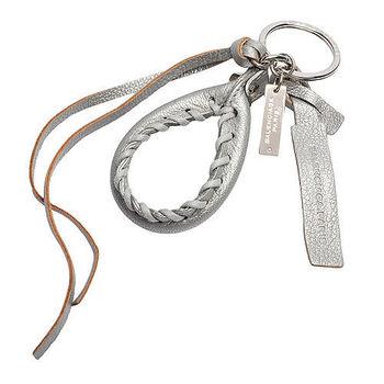 BALENCIAGA 巴黎世家City銀色小釦提把造型吊飾鑰匙圈(銀灰色)