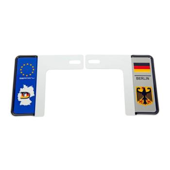 3D 7碼專利精緻裝飾車牌框 德國地圖款