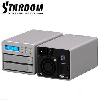 STARDOM 3.5吋USB3.0/eSATA 2bay磁碟陣列-SR2-SB3+