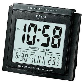 CASIO卡西歐‧具有溫度計與日期功能的大字幕鬧鐘DQ-750F