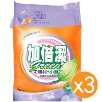 加倍潔 尤加利+小蘇打防螨潔白 超濃縮洗衣粉 補充包 2kgX3袋