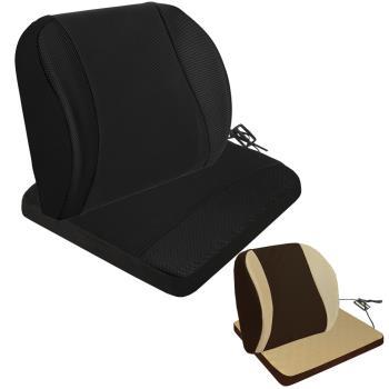 【源之氣】竹炭記憶透氣加強護腰+透氣加強記憶坐墊/二色可選(9449+9450)