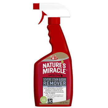 【8in1】美國 自然奇蹟 貓用活氧酵素去漬除臭噴劑(清新香味) 24oz/709ml X 1入