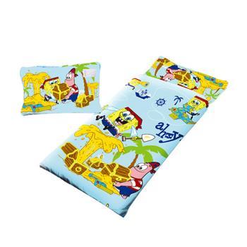 【Sunnybaby生活館】- 卡通造型幼教兒童睡袋-海綿寶寶-寶藏(藍)