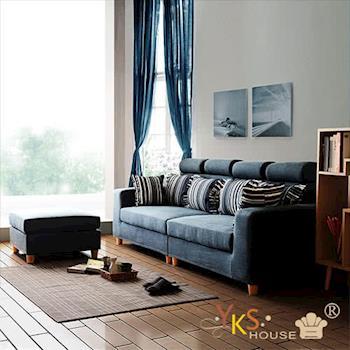 YKSHOUSE 尼泊爾L型布沙發(獨立筒版)