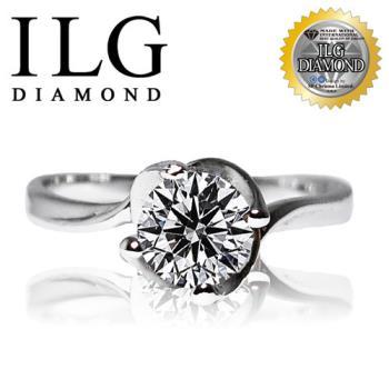 ILG鑽 頂級八心八箭擬真鑽石戒指 好萊塢款 主鑽約75分 RI016 頂級鑽石鋯石水鑽戒指求婚戒指