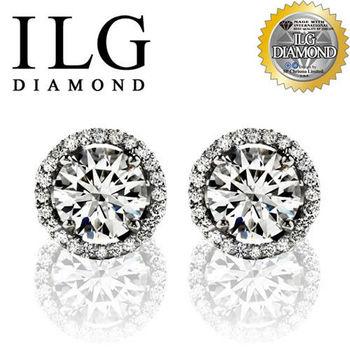 ILG鑽 頂級八心八箭擬真鑽石耳環 巴黎名款 ER0013 De Beers同款情人禮物生日禮物