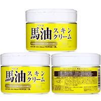 【家得適】日本Loshi 馬油 天然潤膚乳液/霜 220gx3入組