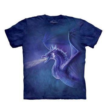 【摩達客】(預購)美國進口The Mountain 噴火冰龍 純棉環保短袖T恤