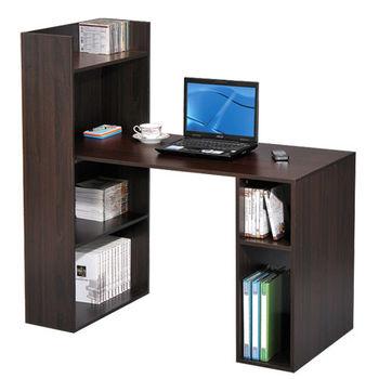 LOGIS邏爵~多用途書櫃式書桌/電腦桌(2色)