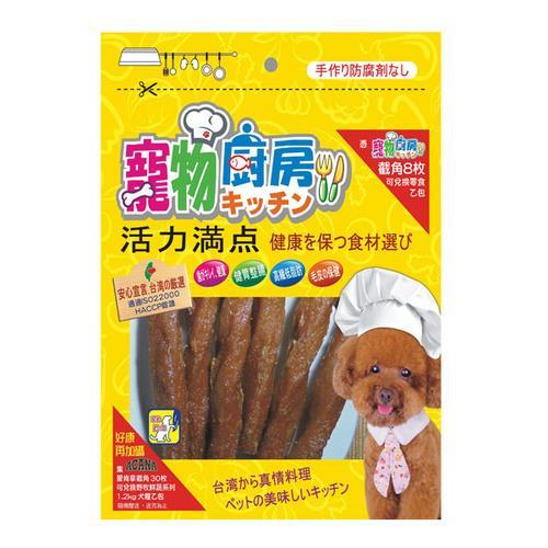 寵物廚房零食 PK-004低敏鴨肉Q條 240G X 1包